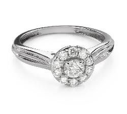 """Помолвочное кольцо с Бриллиантом """"Бриллиантовый цветок 50"""""""