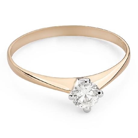 """Помолвочное кольцо с Бриллиантом """"Единственная 128"""""""