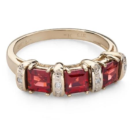 """Zelta gredzens ar dārgakmeņiem """"Krāsas 95"""""""