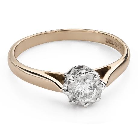 """Помолвочное кольцо с Бриллиантом """"Возлюбленный 144"""""""