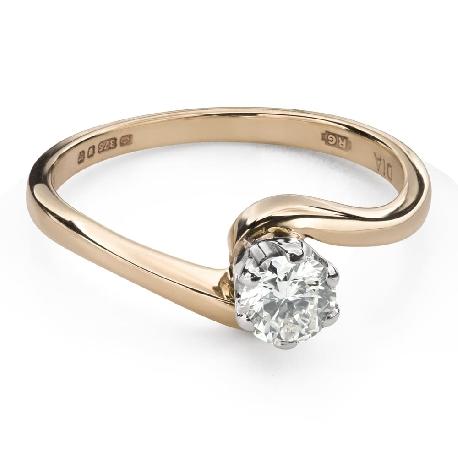 """Saderināšanās gredzens ar Briljantu """"Mīlestības apskāvienos 58"""""""