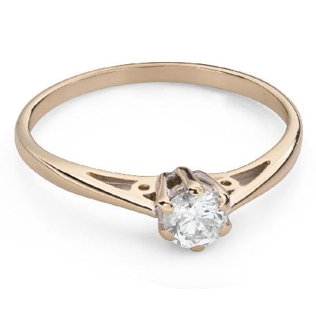"""Помолвочное кольцо с Бриллиантом """"Единственная 130"""""""