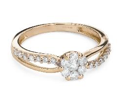 """Помолвочное кольцо с Бриллиантами """"Бриллиантовый цветок 51"""""""