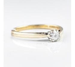 """Sužadėtuvių žiedas su Briliantu """"Vienintelė 5"""""""