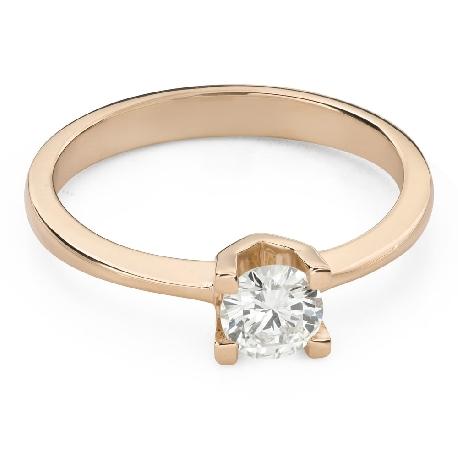 """Помолвочное кольцо с Бриллиантом """"Незабываемый 19"""""""