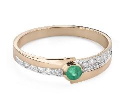 """Zelta gredzens ar dārgakmeņiem """"Krāsas 96"""""""