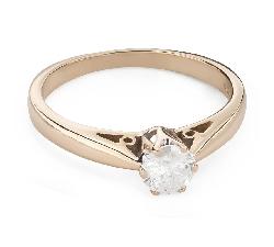 """Помолвочное кольцо с Бриллиантом """"Единственная 134"""""""