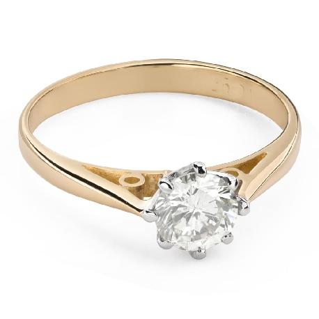 """Помолвочное кольцо с Бриллиантом """"Единственная 135"""""""