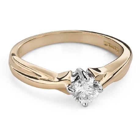 """Помолвочное кольцо с Бриллиантом """"Прочность 115"""""""