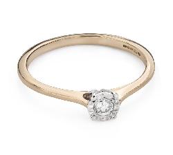 """Помолвочное кольцо с Бриллиантом """"Возлюбленный 135"""""""