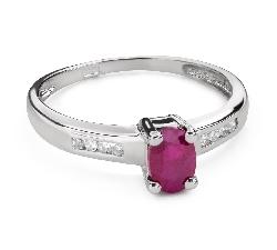 """Saderināšanās gredzens ar ar dārgakmeņiem """"Krāsas 99"""""""