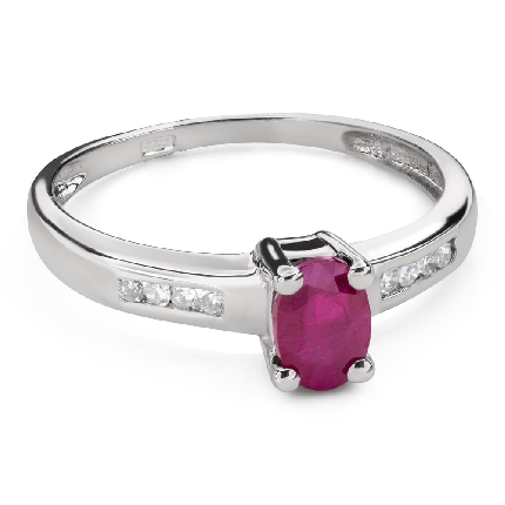"""Помолвочное кольцо с драгоценными камнями """"Краски 99"""""""