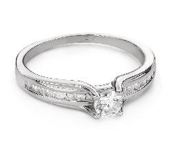 """Помолвочное кольцо с Бриллиантами """"Грациозность 143"""""""