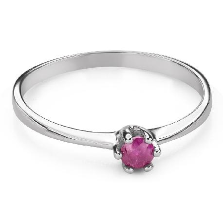 """Помолвочное кольцо с драгоценными камнями """"Рубин 44"""""""