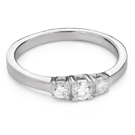 """Помолвочное кольцо с алмазами """"Трилогия 43"""""""