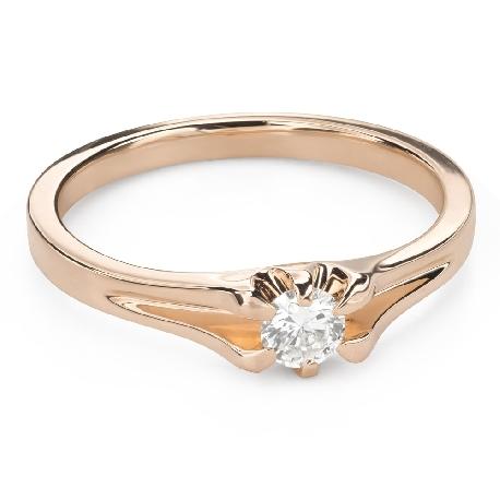 """Помолвочное кольцо с Бриллиантом """"Единственная 141"""""""