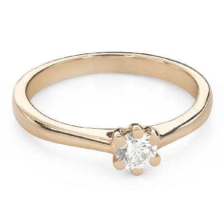 """Помолвочное кольцо с Бриллиантом """"Королева 52"""""""