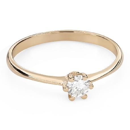 """Помолвочное кольцо с Бриллиантом """"Королева 54"""""""