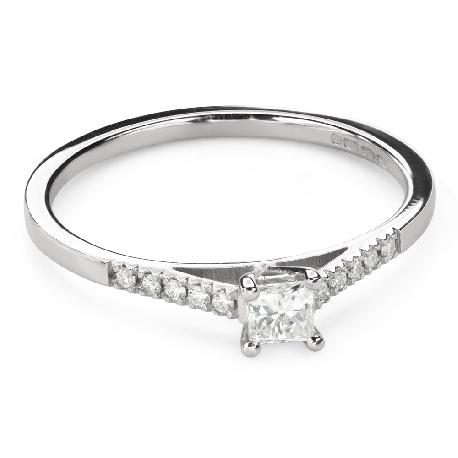 """Помолвочное кольцо с алмазами """"Принцесса 107"""""""