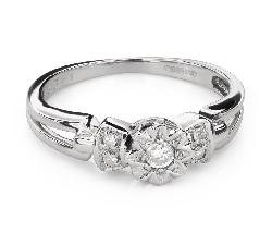 """Помолвочное кольцо с алмазами """"Возлюбленный 150"""""""