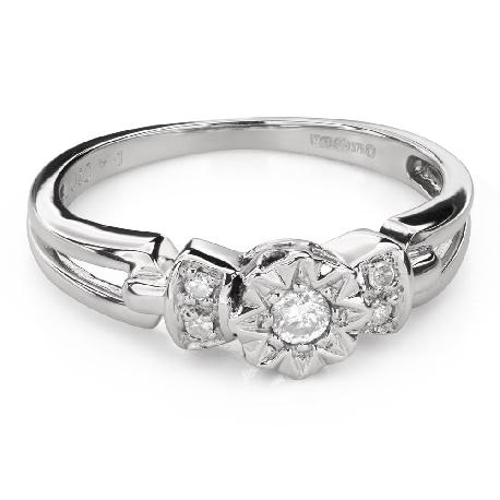 """Saderināšanās gredzens ar Dimantiem """"Mīļais 150"""""""