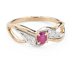 """Помолвочное кольцо с драгоценными камнями """"Рубин 45"""""""