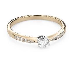 """Помолвочное кольцо с Бриллиантами """"Грациозность 145"""""""