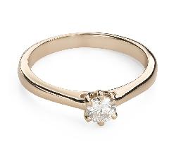 """Помолвочное кольцо с Бриллиантом """"Королева сердца 30"""""""