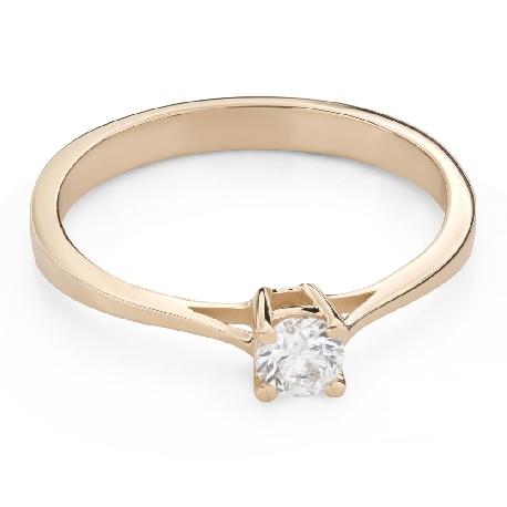 """Помолвочное кольцо с Бриллиантом """"Прочность 117"""""""