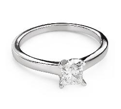 """Помолвочное кольцо с алмазами """"Принцесса 108"""""""