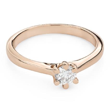 """Помолвочное кольцо с Бриллиантом """"Королева сердца 31"""""""