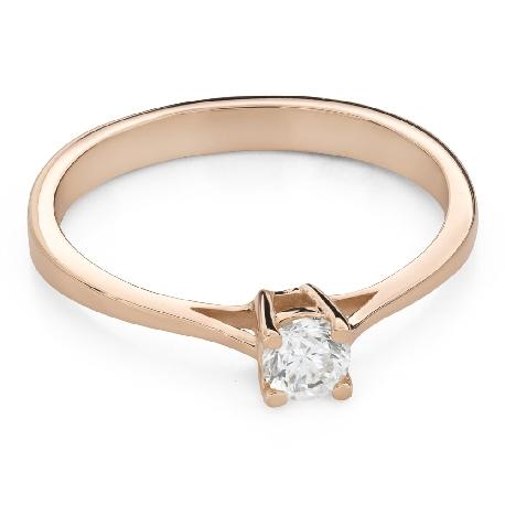 """Помолвочное кольцо с Бриллиантом """"Прочность 118"""""""