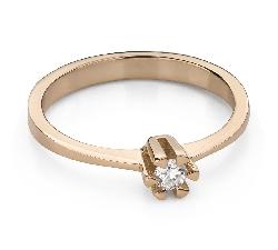"""Помолвочное кольцо с Бриллиантом """"Прочность 119"""""""
