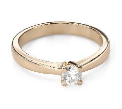 """Помолвочное кольцо с Бриллиантом """"Богиня 196"""""""