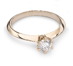 """Помолвочное кольцо с Бриллиантом """"Королева 57"""""""