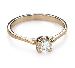 """Помолвочное кольцо с Бриллиантом """"Богиня 170"""""""