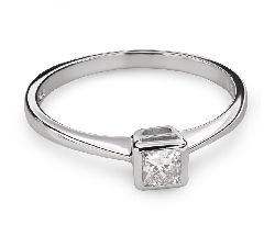 """Помолвочное кольцо с Aлмазом """"Принцесса 80"""""""