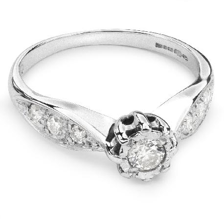 """Помолвочное кольцо с Бриллиантами """"Возлюбленный 34"""""""