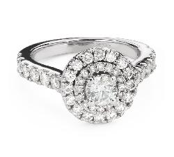 """Помолвочное кольцо с алмазами """"Корона 24"""""""