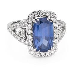 """Помолвочное кольцо с драгоценными камнями """"Сапфир 36"""""""