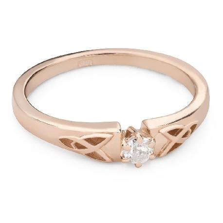 """Помолвочное кольцо с Бриллиантом """"Единственная 142"""""""