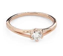 """Помолвочное кольцо с Бриллиантом """"В объятиях любви 61"""""""