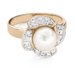 """Помолвочное кольцо с Бриллиантом """"Цветок 6"""""""