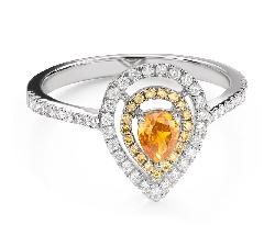 """Помолвочное кольцо с алмазами """"Королева сердца 32"""""""