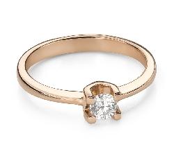 """Помолвочное кольцо с Бриллиантом """"Прочность 123"""""""