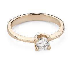 """Помолвочное кольцо с Бриллиантом """"Прочность 124"""""""