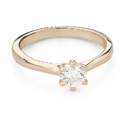 """Помолвочное кольцо с Бриллиантом """"Королева 63"""""""