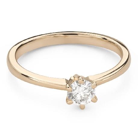 """Помолвочное кольцо с Бриллиантом """"Королева 64"""""""