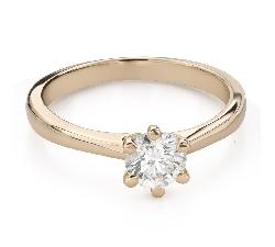 """Помолвочное кольцо с Бриллиантом """"Королева 65"""""""