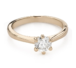 """Помолвочное кольцо с Бриллиантом """"Королева 67"""""""